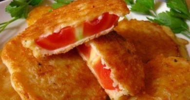 Жареные помидоры (в сырном кляре)