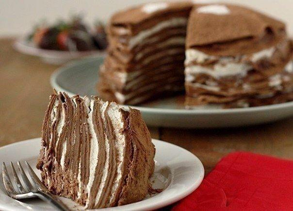 Блинный шоколадный тортик