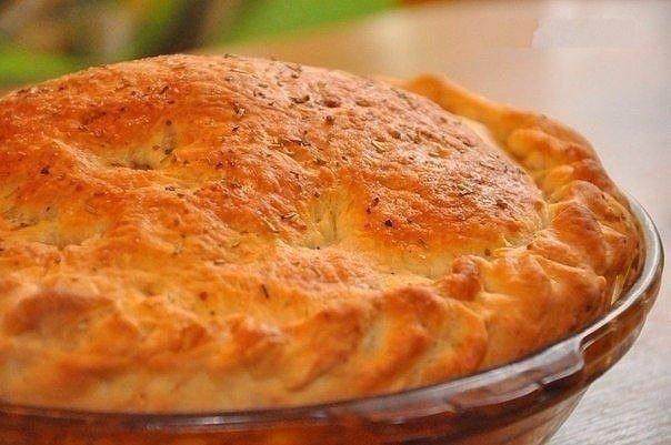 Пирог с мясом «Быстро и легче не бывает