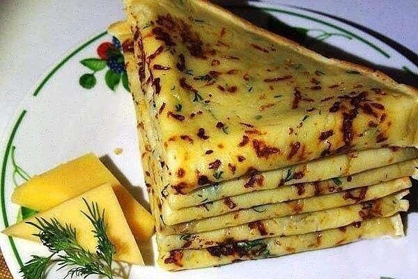 Сырные блины, самый популярный рецепт