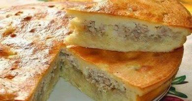 Рецепт заливного пирога с курицей