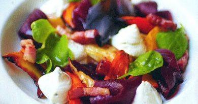 Салат с печёными овощами