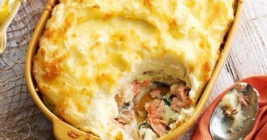 Идеальный обед: картофельно-рыбная запеканка