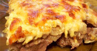 Мясо с сыром