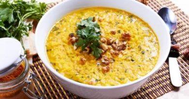 Харчо с грецкими орехами – грузинский суп.