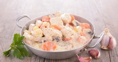 Свинина с грибами в сливочном соусе – классика!
