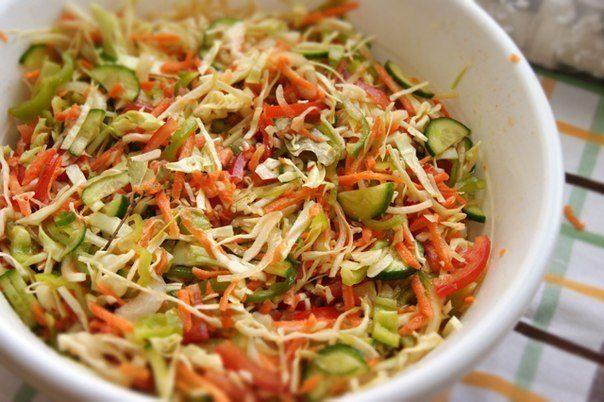 """Салат """"кубанский"""" - просто, быстро и очень вкусно!"""