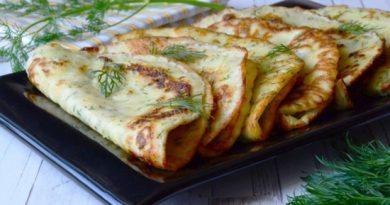 Простые рецепты вкусных блинчиков из кабачков.