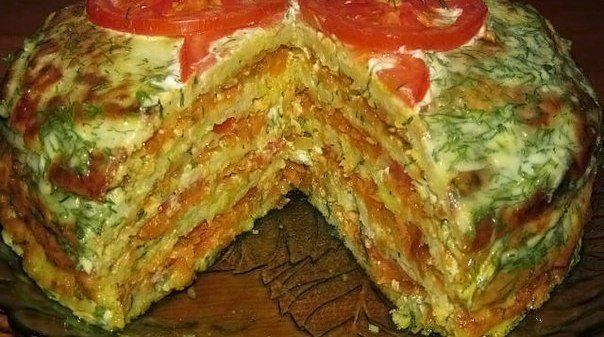 Вкуснейший тортик из кабачков - просто и очень вкусно!