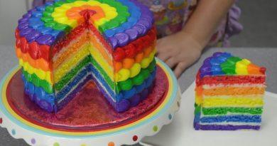 Удивляем вкусом и цветом: торт «Радуга» из бисквитов или желе.