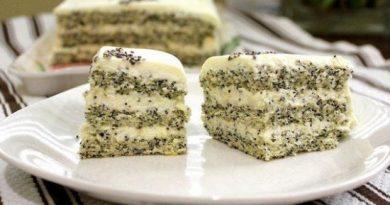 Торт с маком – необычный и невероятно вкусный десерт.