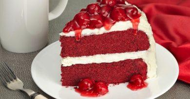 Торт «Красный бархат» – яркое, вкусное удовольствие.