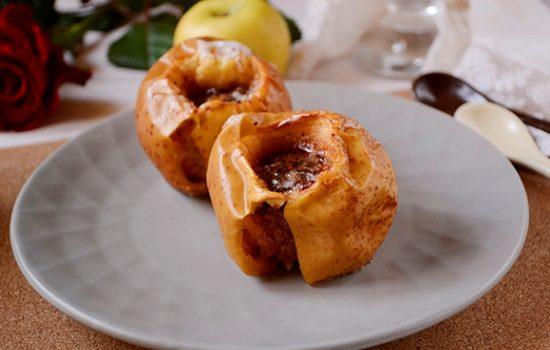 Яблоки в духовке с сахаром