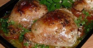 Курица на овощах