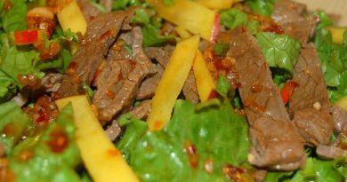 Очень вкусный и полезный салат корейской кухни Хе с мясом