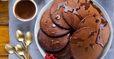 Шоколадные оладушки