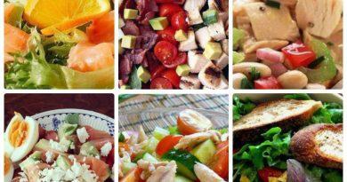 6 простых белковых салатиков к ужину!