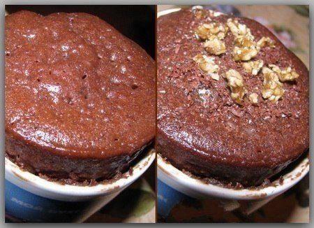 Шоколадный кекс в микроволновке за 3 минуты.