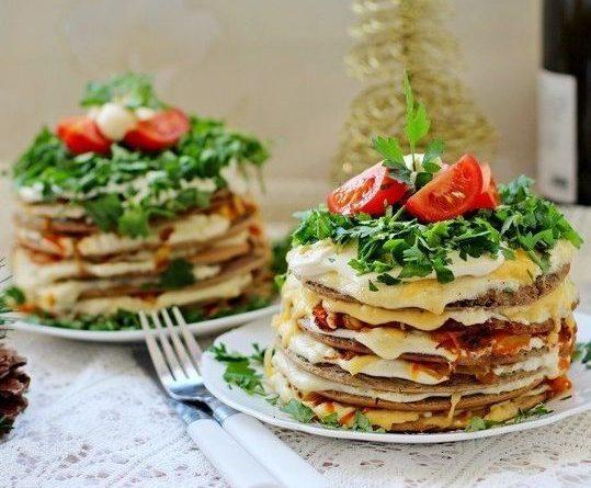 Печёночные мини-тортики к праздничному столу!