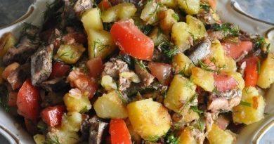 Салат со шпротами - необычно!