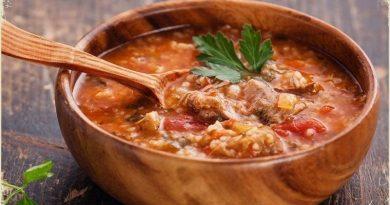 Встречайте! Наваристый грузинский суп Харчо.
