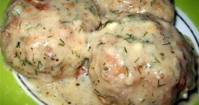 Котлеты в соусе из плавленного сыра