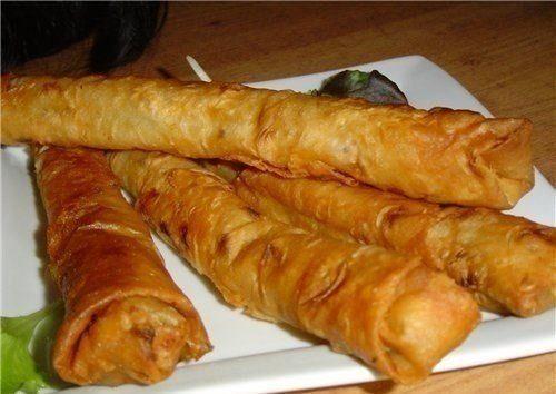Горячая закуска из лаваша