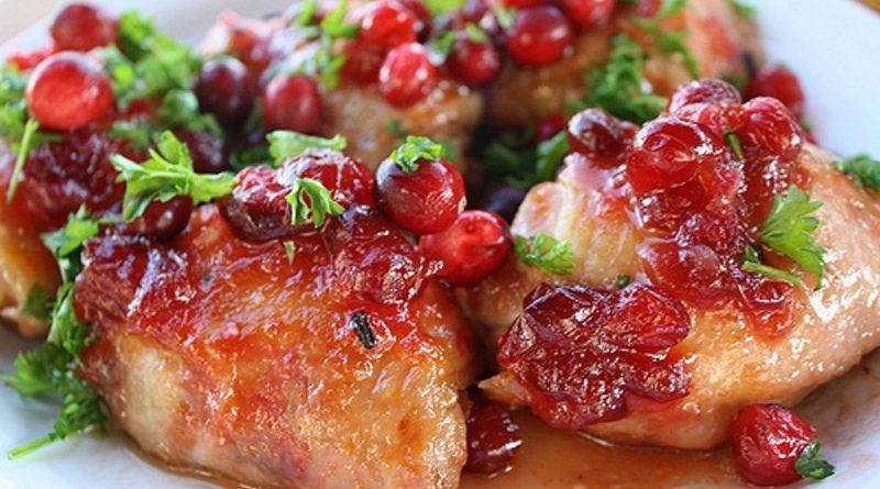 Пикантная курица с клюквенным соусом