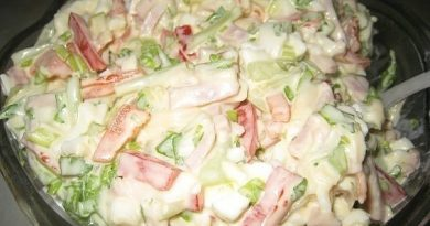 Очень вкусный - салатик Берлинский