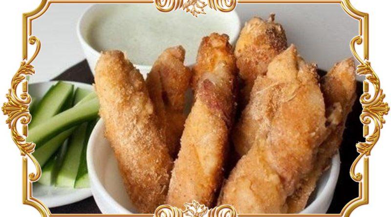Куриное филе в беконе и сухарях