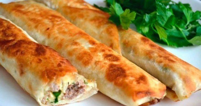 Блюдо из тонкого лаваша