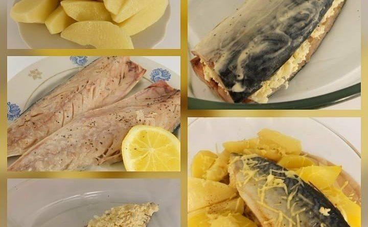 Запеченная скумбрия с сыром