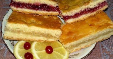 Универсальный рецепт для лимонного и клюквенного пирога
