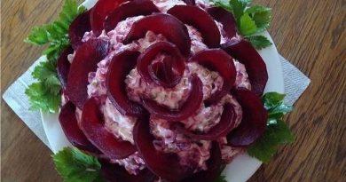"""Салат """"Черная роза """""""