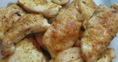 Куриное филе в медовом маринаде.