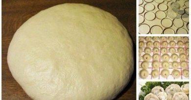 Супер тесто на пельмени и вареники