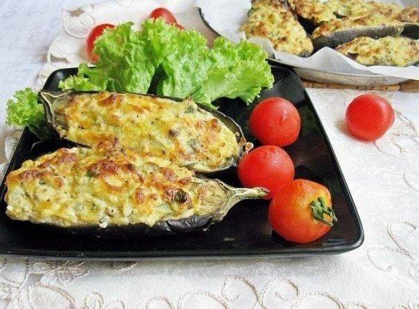 """Баклажаны """"Кучерикас"""" с сырно-творожной начинкой"""