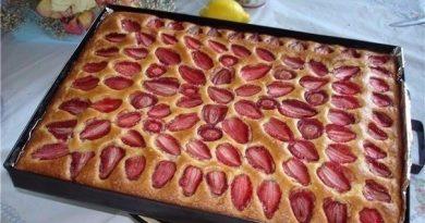 Пирог фруктовый…когда нет времени и особо средств «разгуляться»!