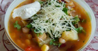 Американский овощной суп-чили
