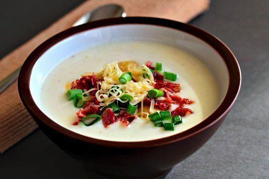 Густой сливочный картофельный суп-пюре