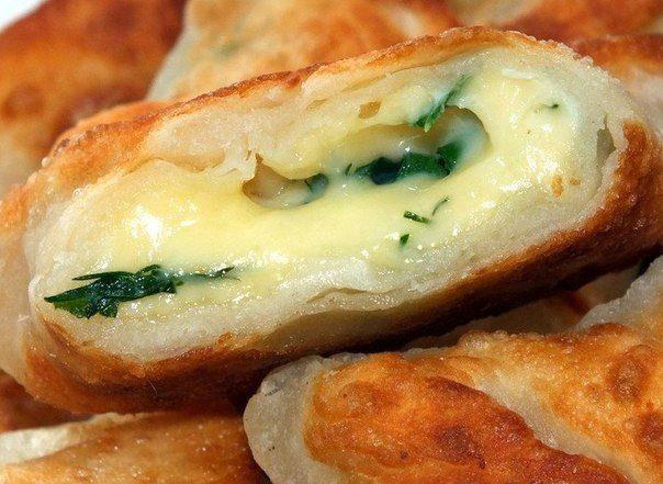 Конвертики с сыром и зеленью