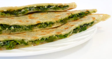 Лепёшки бакинские с зеленью