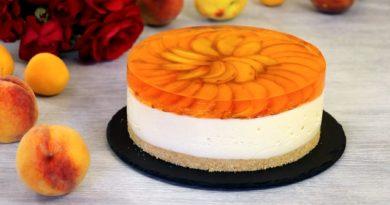 Муссовый торт с персиками