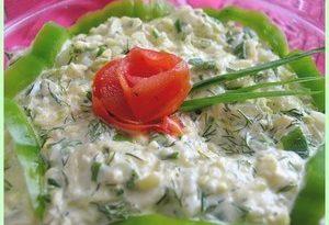 Салат из цукини и яиц