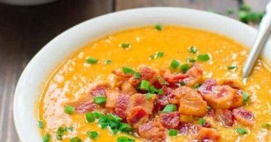 Суп с копчёностями и чечевицей