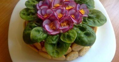 Красивый и вкусный Салат фиалки