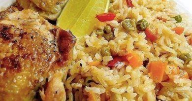 Риc c кypицeй - Arroz con pollo