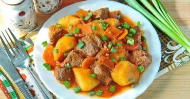 Жаpкое из говядины с картофелем