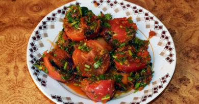 Быстрые помидоры по-корейски. Офигенно вкусно!