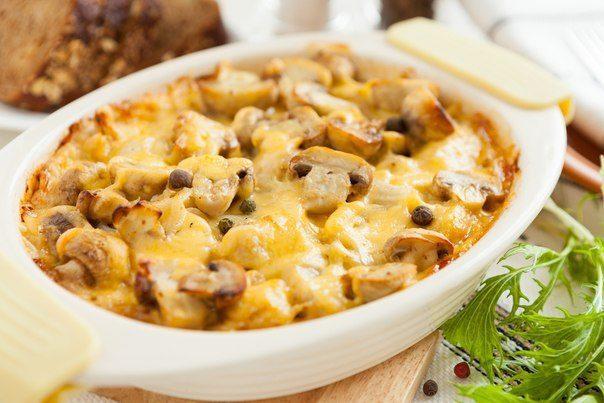 Запеканка с гримами и картофелем